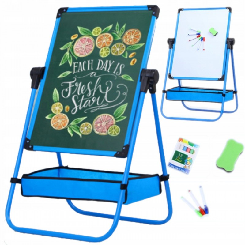 Dětská otočná tabule, magneticko-křídová