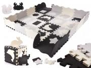 Dětské pěnové puzzle černo-bílé