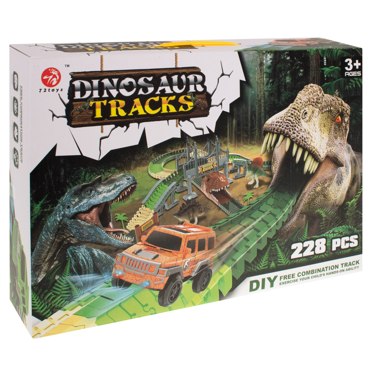 Autodráha s dinosaury, 228 dílů
