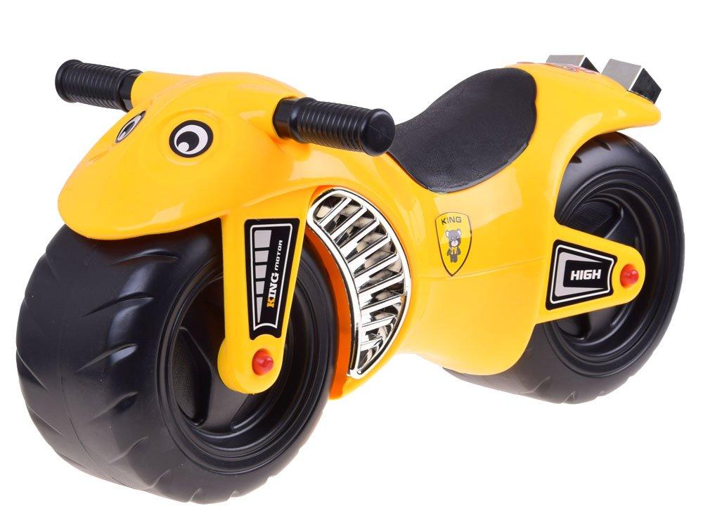 HračkyZaDobréKačky odrážedlo Sportovní motorka - žlutá