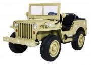 Dětský elektrický vojenský jeep willys 4x4