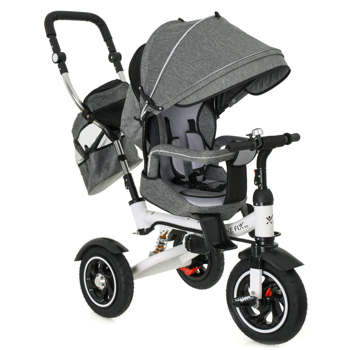 Dětská tříkolka TRIKE FIX III - šedá