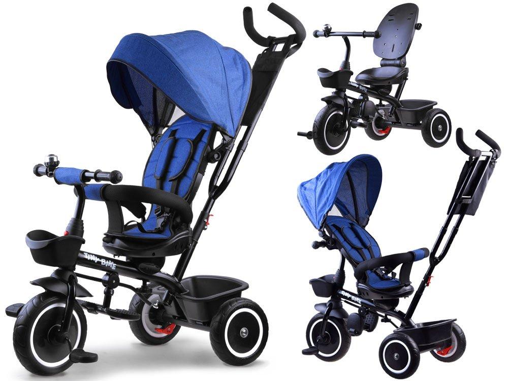 Dětská tříkolka Tiny Bike 3v1 - tmavě modrá