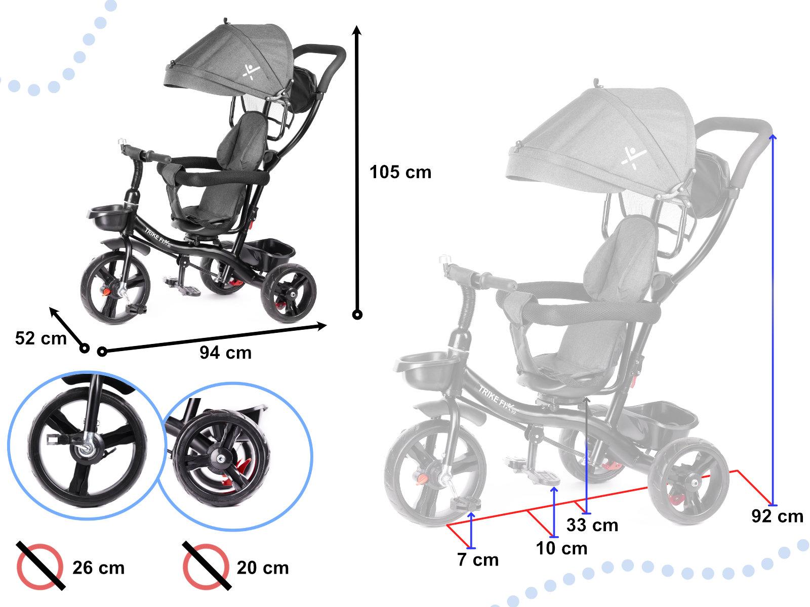 Dětská tříkolka TRIKE FIX LITE