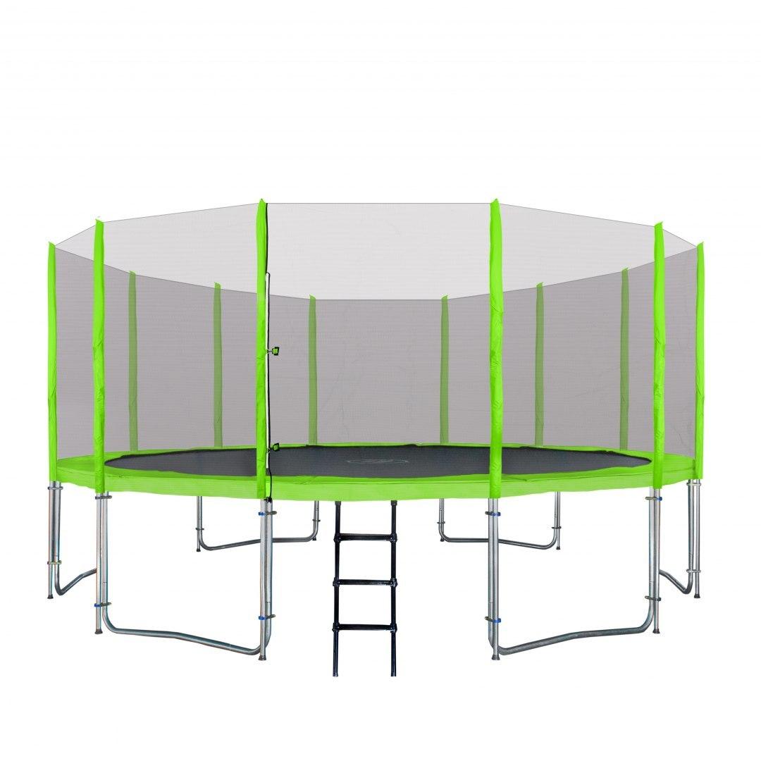 Zahradní trampolína SKY 487 cm - zelená