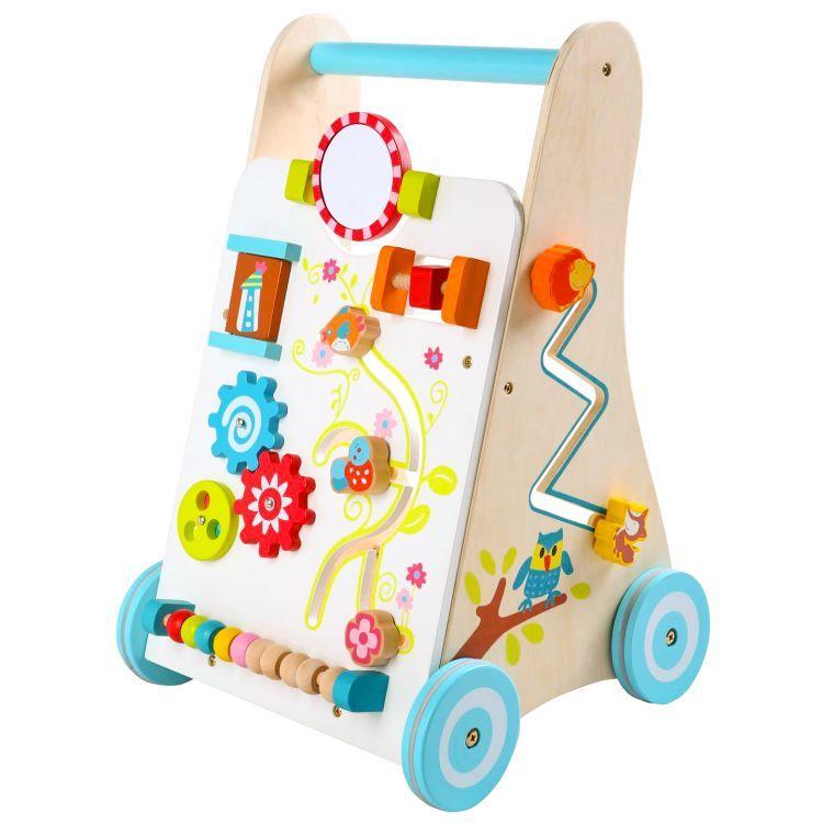 Kinderplay Dřevěné interaktivní chodítko