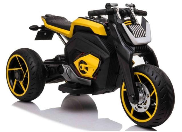 Dětská elektrická motorka Future - žlutá