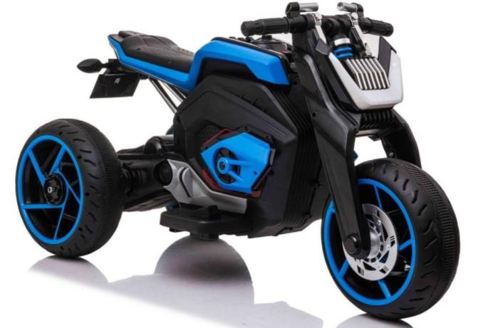 Dětská elektrická motorka Future - modrá