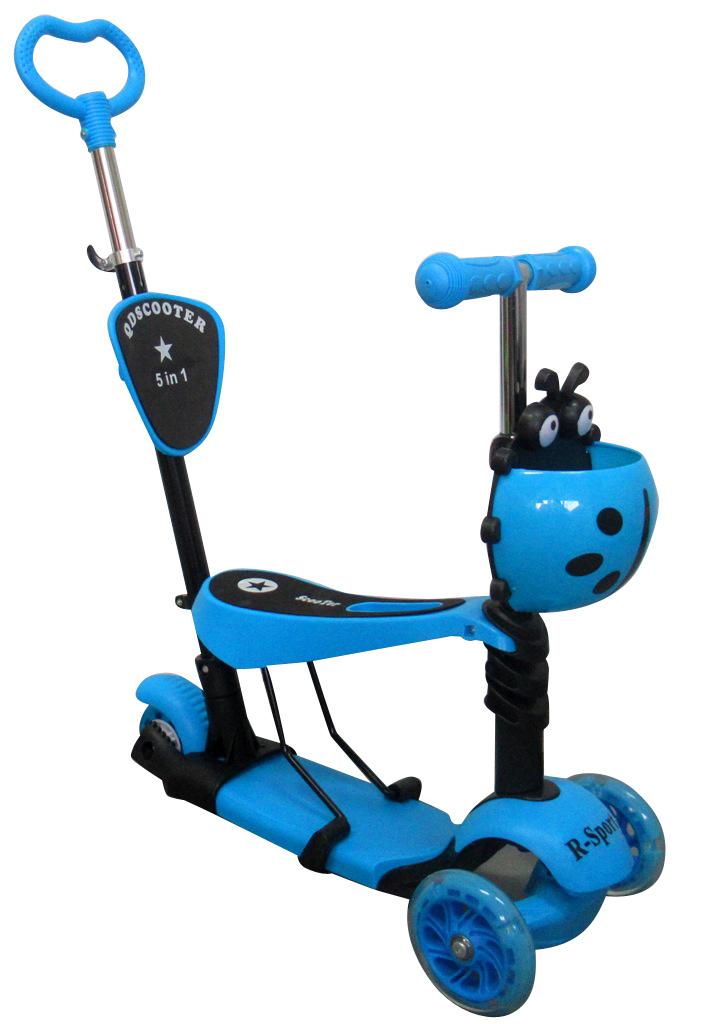 Dětská tříkolová koloběžka R-Sport 5v1 - modrá