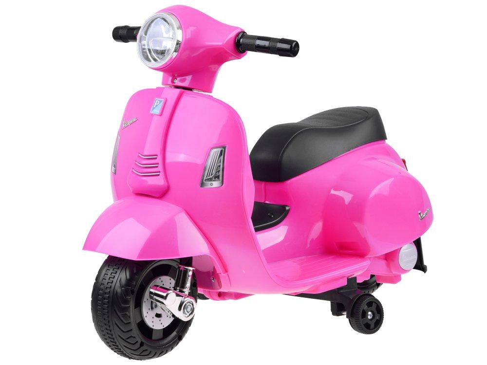 Dětská elektrická motorka Vespa růžová