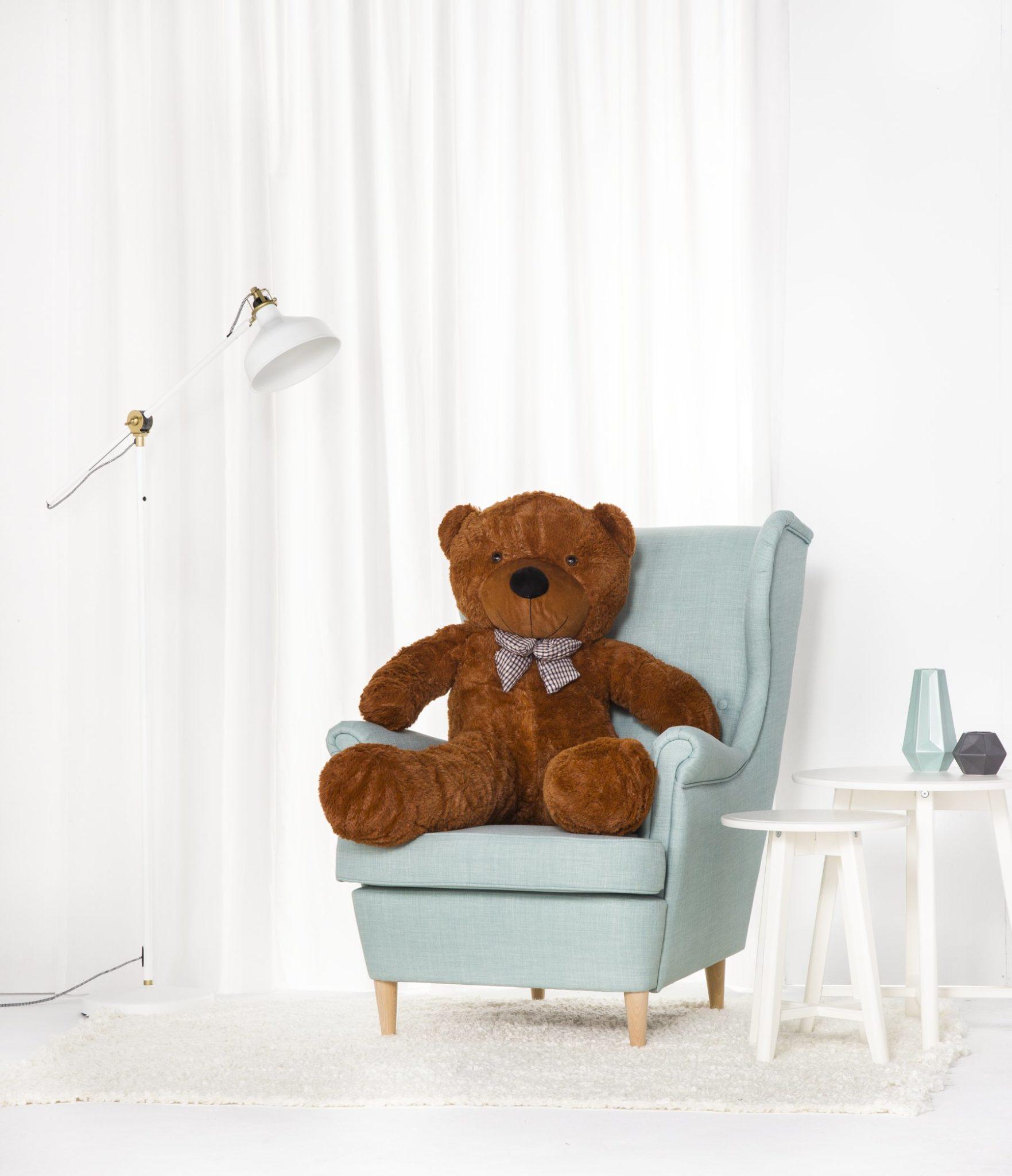 Velký plyšový medvěd Classico XL 130 cm - tmavě hnědý