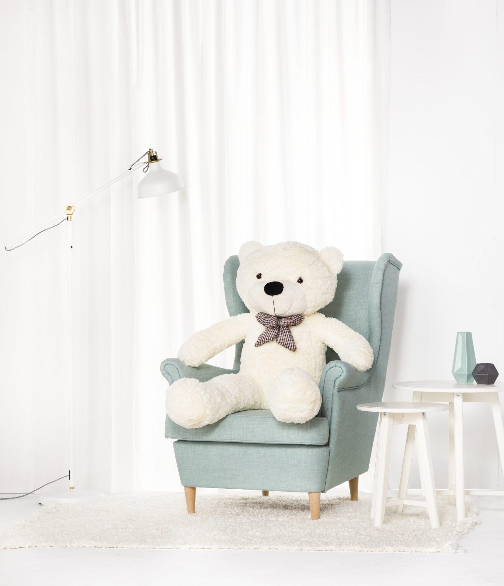 Velký plyšový medvěd Classico XL 130 cm - bílý