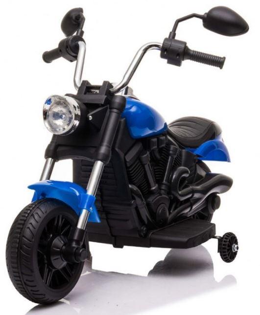Elektrická motorka Chopper V-Max - modrá