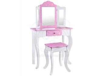 Dětský dřevěný kosmetický stolek