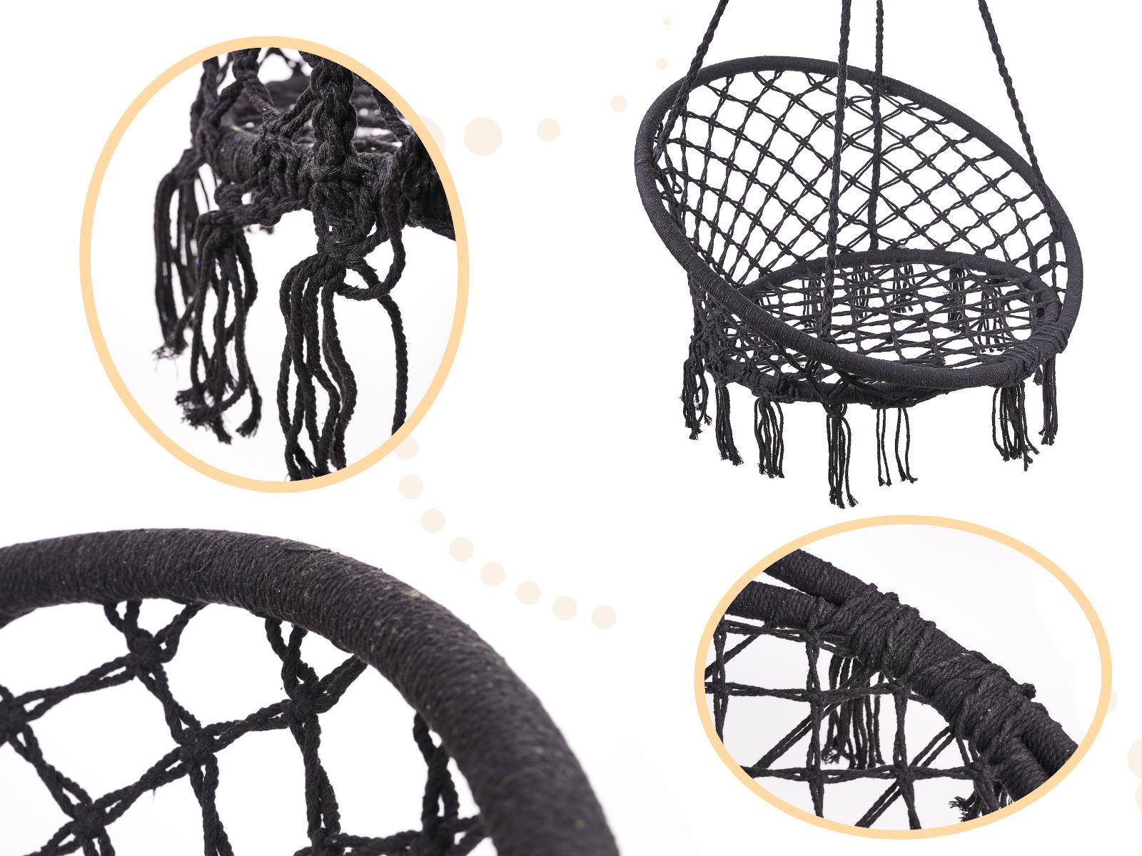 Houpací hnízdo GREY 80 cm se sedáky PATIO