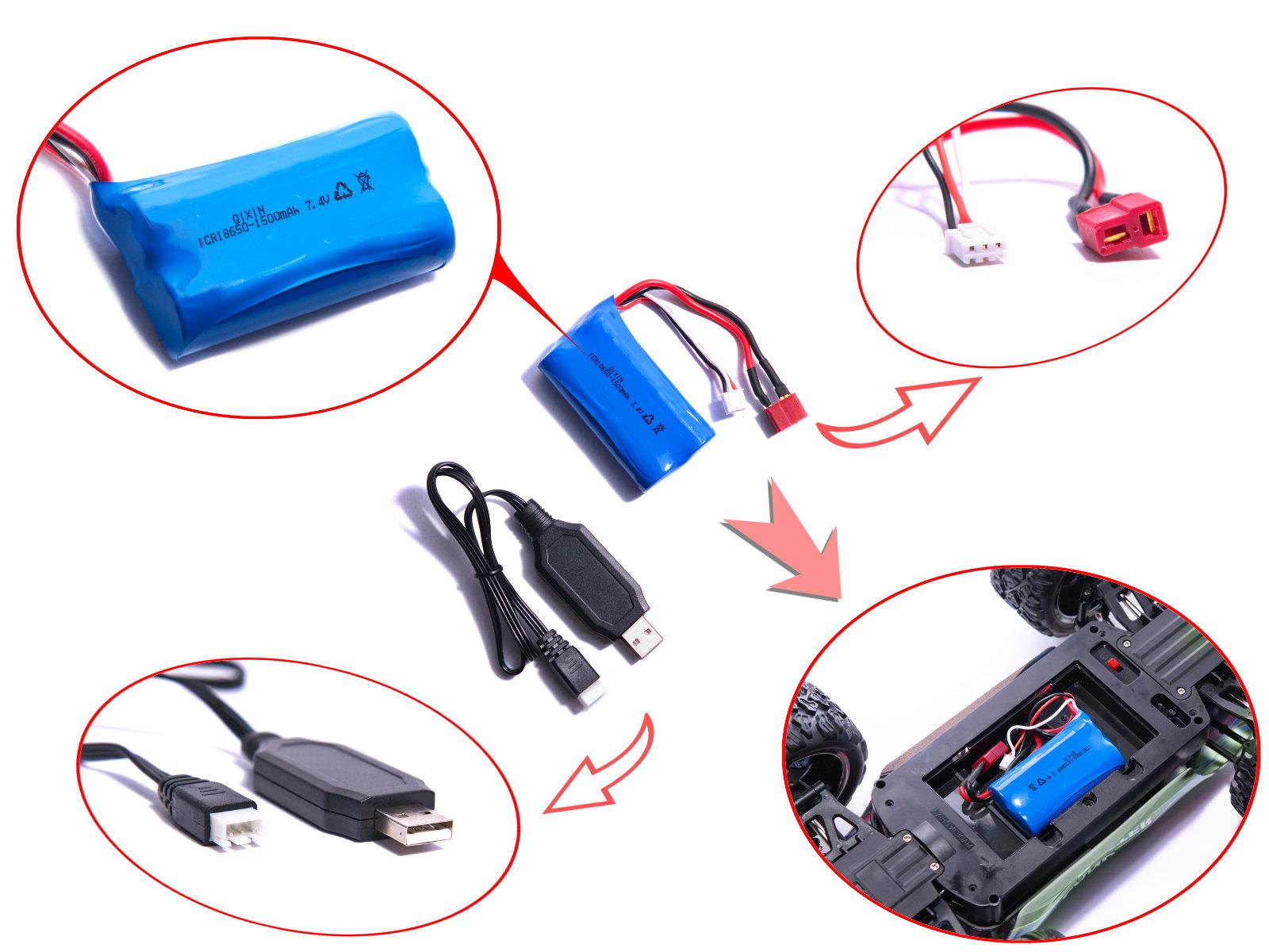 RC auto Land Buster 2.4GHz modré