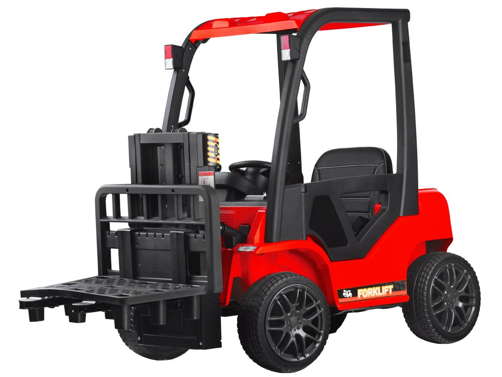 Tomido Dětský elektrický vysokozdvižný vozík - červený