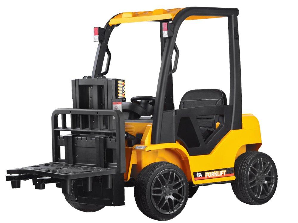 Tomido Dětský elektrický vysokozdvižný vozík - žlutý