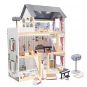 Tomido domeček pro panenky LED a příslušenstvím 78 cm