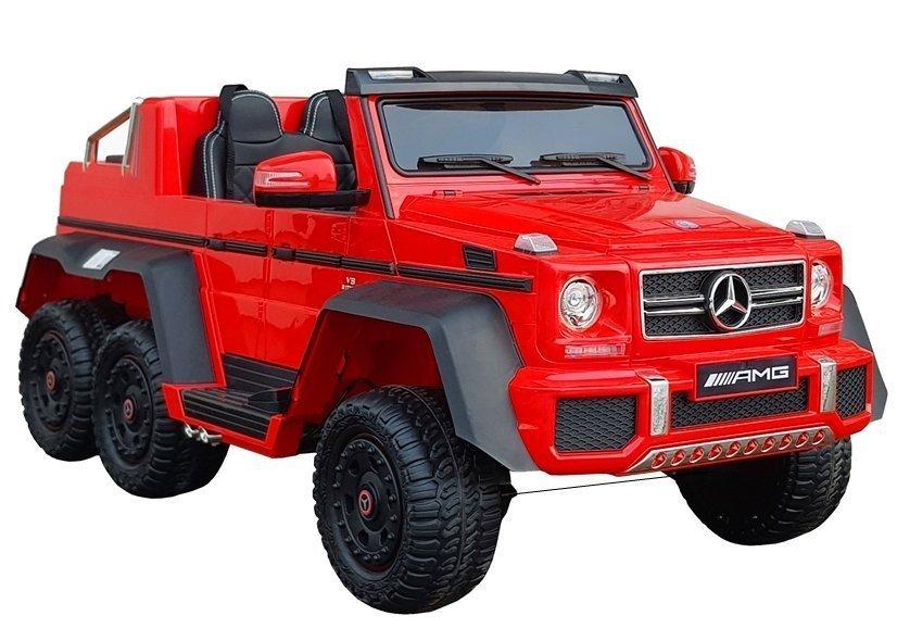 Dětské elektrické autíčko Mercedes-Benz G63 6x6 MP4 LCD - červené
