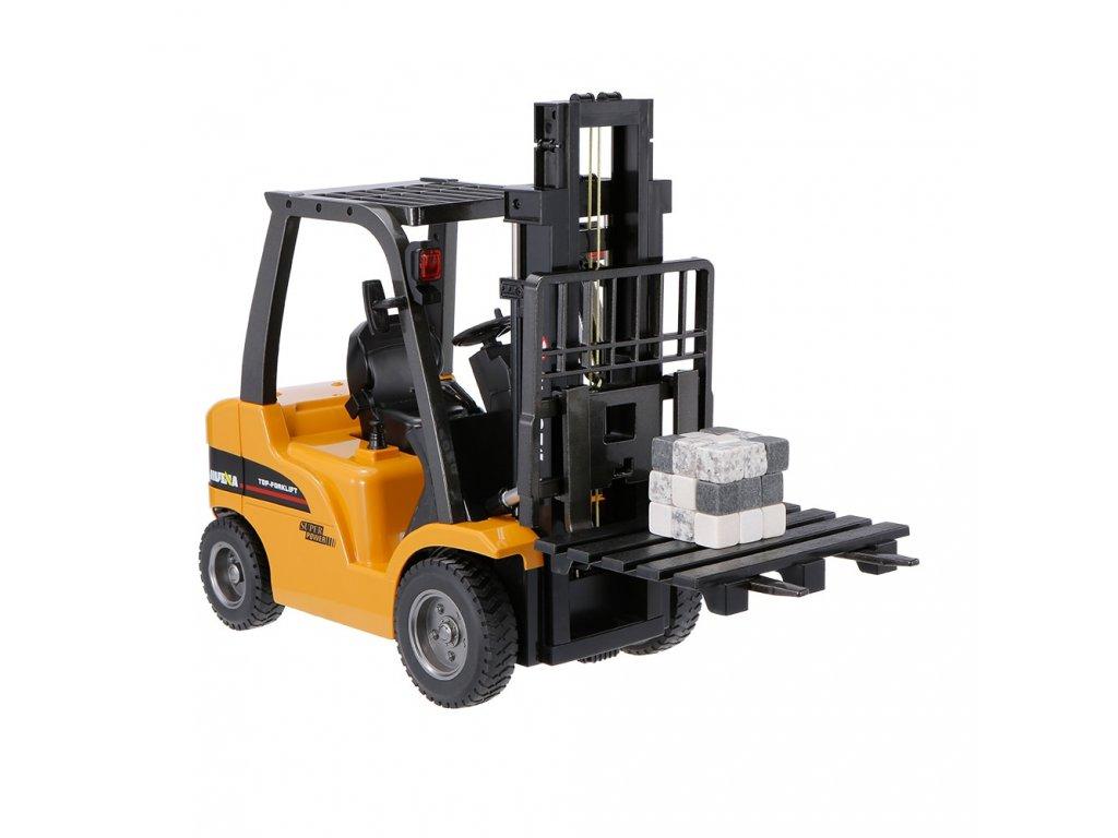 HUINA 1577 Vysokozdvižný vozík s kovovými vidlicemi - RTR, 8Ch, 2,4GHz, 1:10
