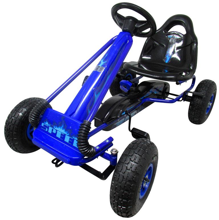 Šlapací motokára Gokart Fire - modrá