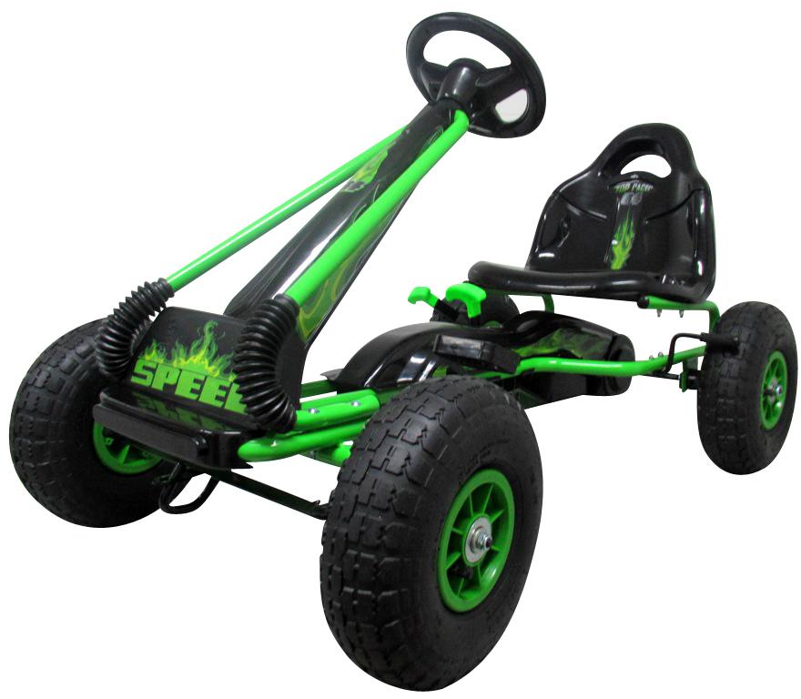 Šlapací motokára Gokart Fire - zelená