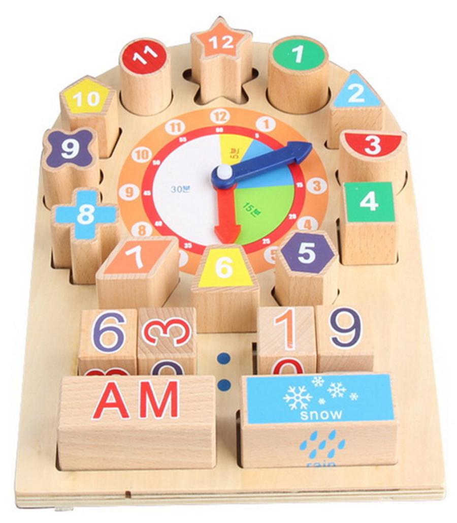 Tomido dřevěné hodiny s kostkami