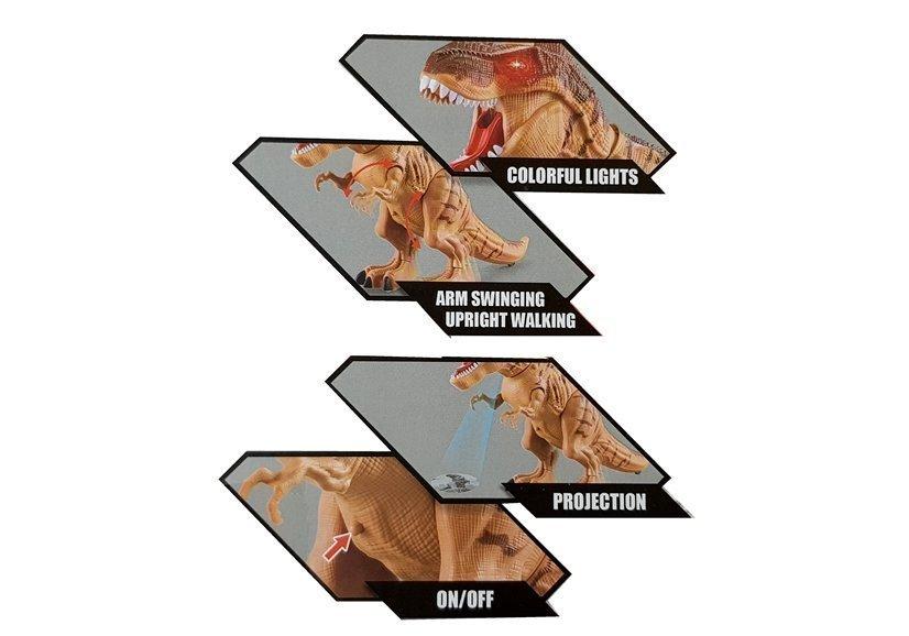 RC dinosaurus snášející vejce hnědý