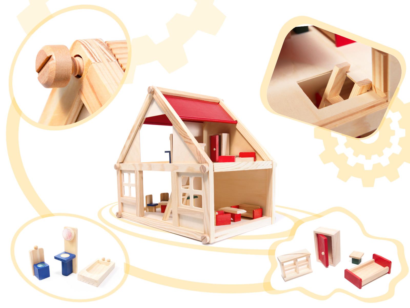 Doris dřevěný domeček pro panenky My Villa