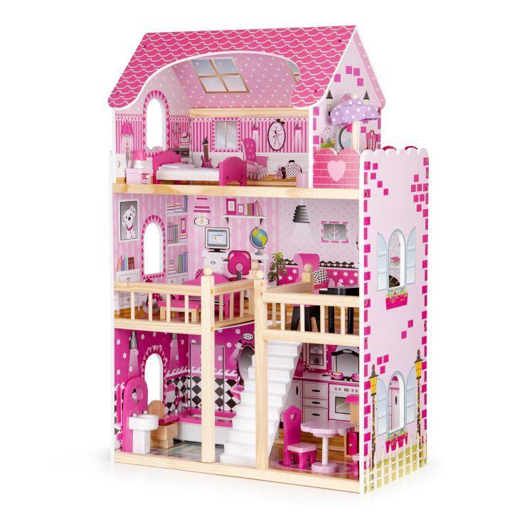 HračkyZaDobréKačky domeček pro panenky s LED