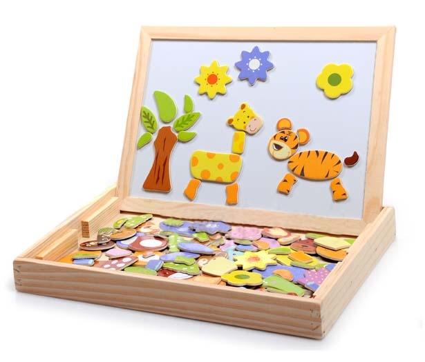 Dřevěná tabule oboustranná – magnetické tvary