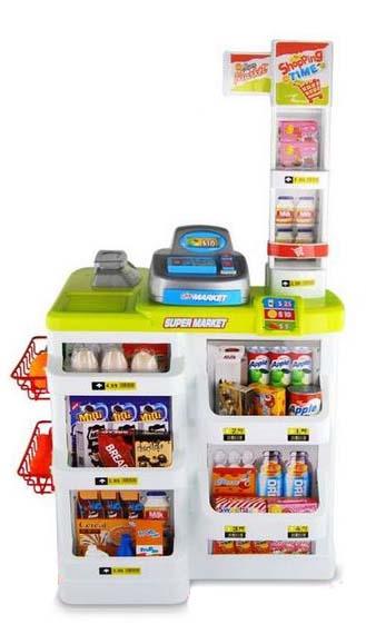 Dětský supermarket s nákupním vozíkem