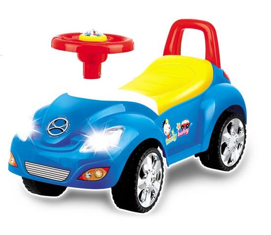 Odrážedlo autíčko, 17 melodií - modré