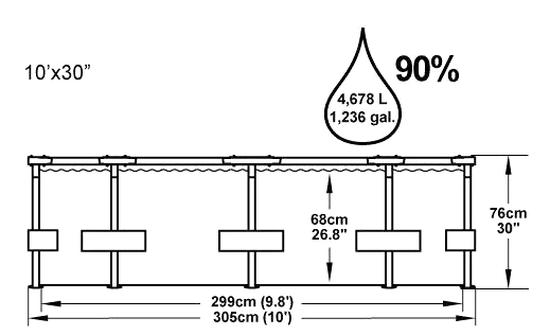 Bestway Bazén s konstrukcí 3,05x0,76 m s kartušovou filtrací
