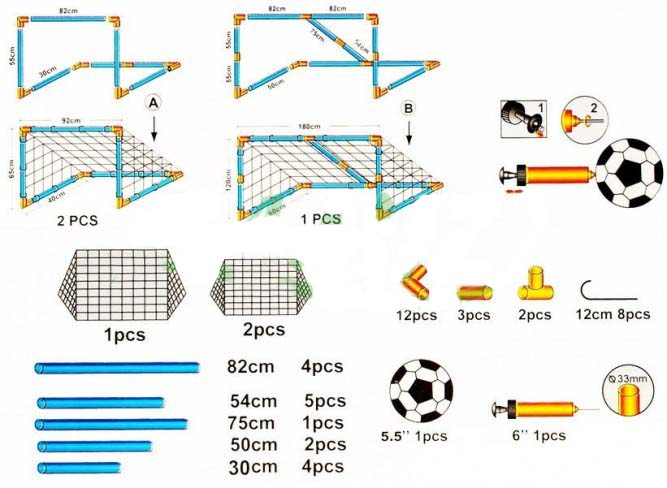 Fotbalová branka 2v1 Maxi