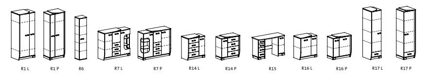 ROMERO modulový obývací systém