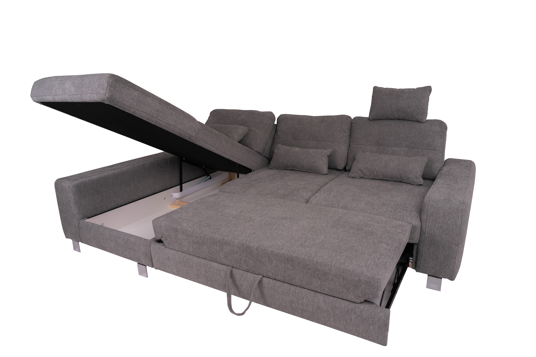 STAALB050 rohová sedací souprava šedá