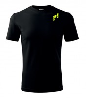 P1 Racewear tričko černé