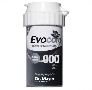 Retrakční vlákno Evocord #000 černá, ultratenké