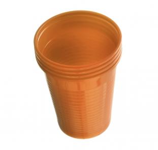 Plastové kelímky Dr. Mayer oranžové