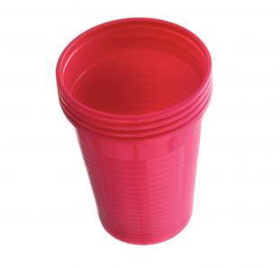 Plastové kelímky Dr. Mayer růžové