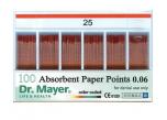 Absorpční papírové čepy značené 02* Dr. Mayer