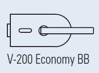 Zámek LIBRA na klíč, matný chrom (V-720 BB/CS)