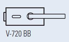 Zámek LIBRA BB CR (V-720 BB lesklý chrom)