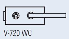 Zámek LIBRA WC CS (V-720 WC matný chrom)