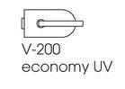 Zámek ECONOMY UV/broušená nerez (V-200 ECO UV/IX)