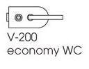 Zámek ECONOMY WC/broušená nerez (V-200 ECO WC/IX)