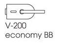 Zámek ECONOMY BB/broušená nerez (V-200 ECO BB/IX)