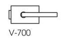 Zámek SQUARE matný nikl (V-700 NS)
